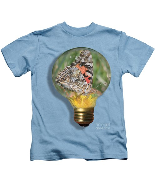 Butterfly In Lightbulb Kids T-Shirt