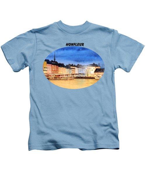 Honfleur  Evening Lights Kids T-Shirt by Bill Holkham