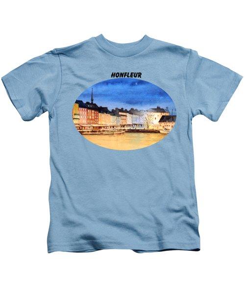 Honfleur  Evening Lights Kids T-Shirt