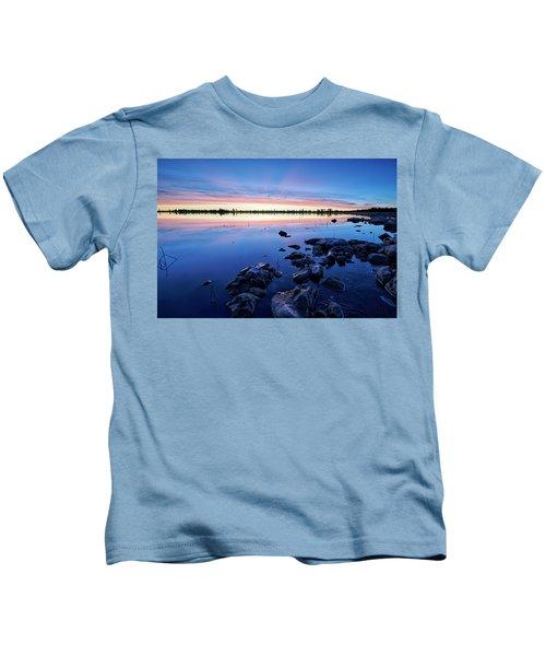 Ashurst Lake In The Morning Kids T-Shirt