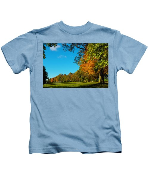 Autumn At World's End Kids T-Shirt