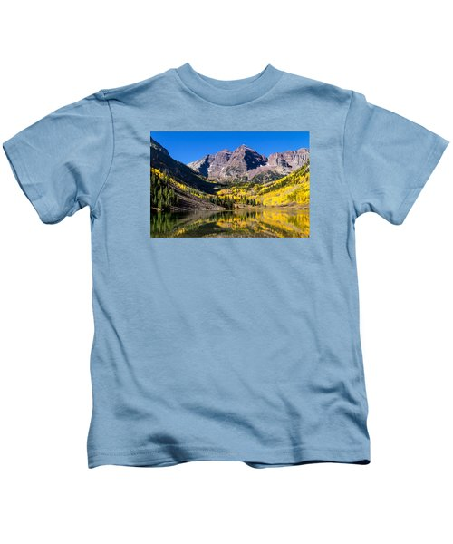 Autumn Morning At The Maroon Bells Kids T-Shirt
