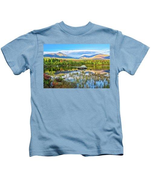 Autumn Mt.katahdin Baxter Sp Maine Kids T-Shirt