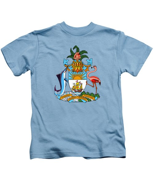 Bahamas Coat Of Arms Kids T-Shirt by Movie Poster Prints