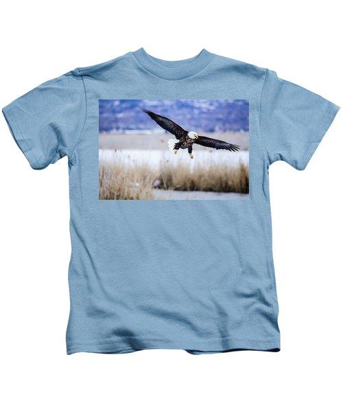 Bald Eagle Landing Kids T-Shirt