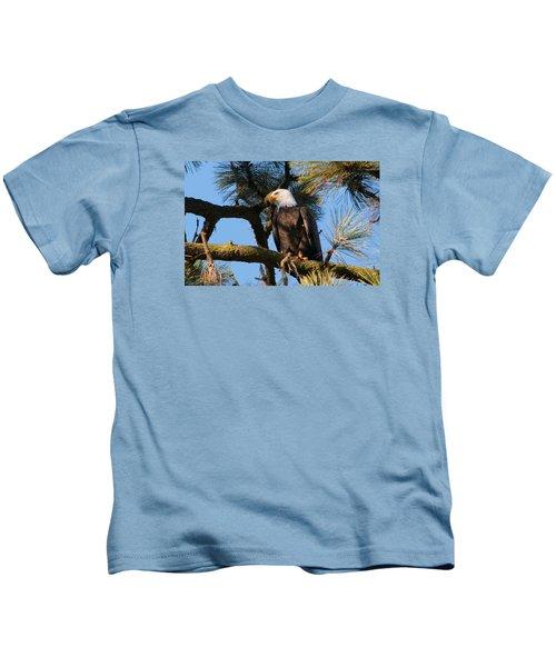 Bald Eagle Perch Kids T-Shirt