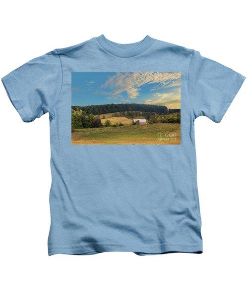 Barn In Field Kids T-Shirt