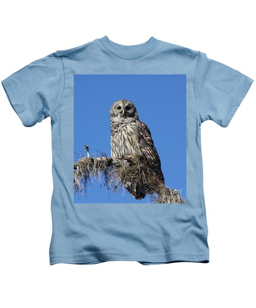 Barred Owl Portrait Kids T-Shirt