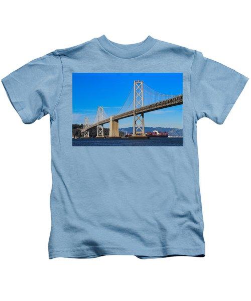 Bay Bridge With Apl Houston Kids T-Shirt