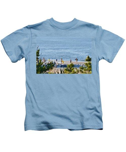 Beach Fun At Cape Henlopen Kids T-Shirt