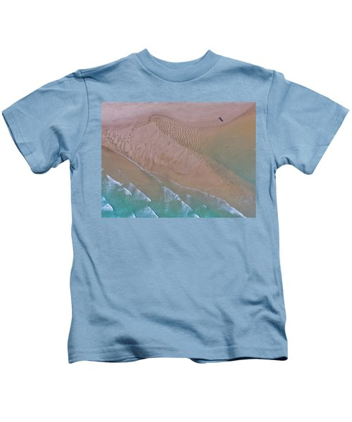 Beach Patterns At North Point On Moreton Island Kids T-Shirt