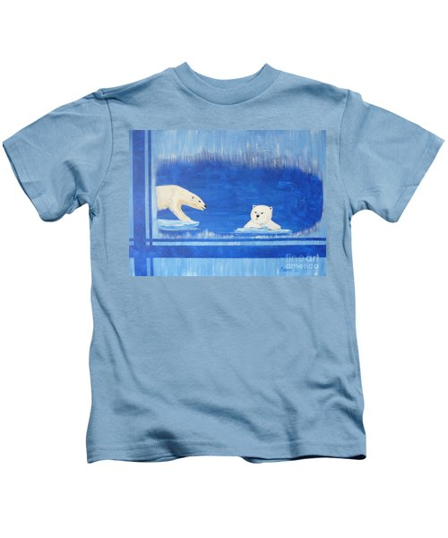 Bears In Global Warming Kids T-Shirt