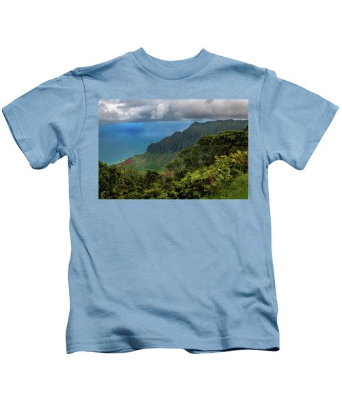 Beautiful And Illusive Kalalau Valley Kids T-Shirt