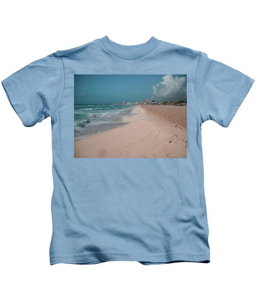Beautiful Beach In Cancun, Mexico Kids T-Shirt