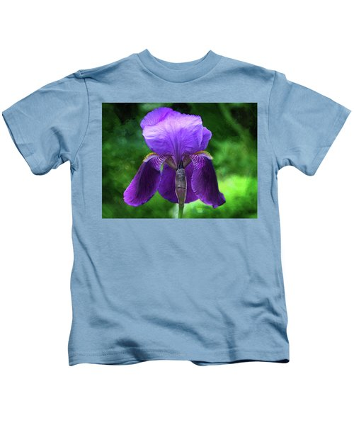 Beautiful Iris With Texture Kids T-Shirt