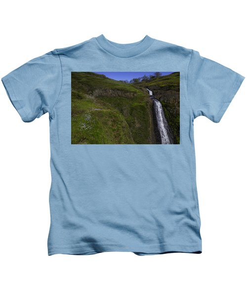 Beautiful Spring Falls Kids T-Shirt