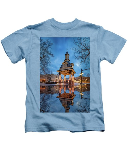 Bell Tower  In Beaver  Kids T-Shirt by Emmanuel Panagiotakis