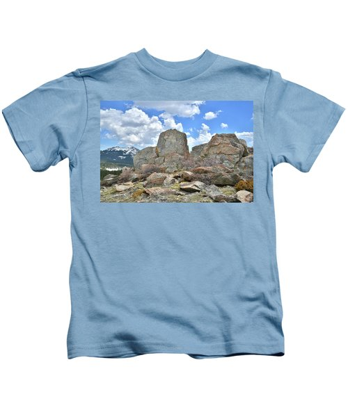 Big Horn Mountains In Wyoming Kids T-Shirt
