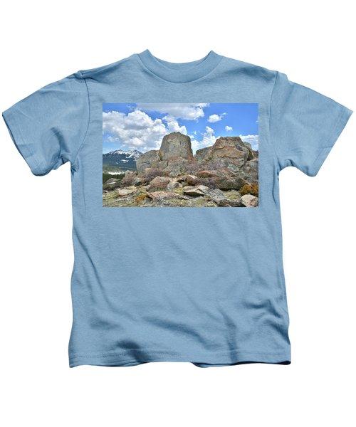 Big Horn Mountains In Wyoming Kids T-Shirt