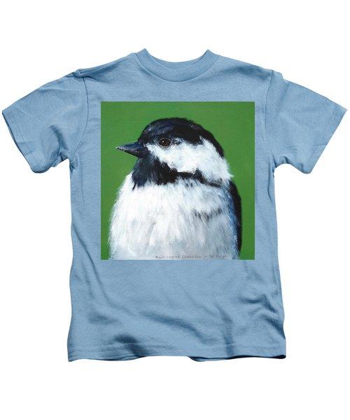 Black Capped Chickadee Kids T-Shirt