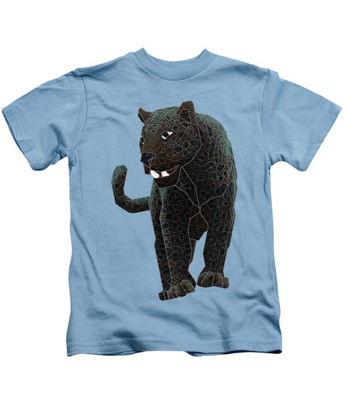 Black Panther Kids T-Shirt by Dusty Conley