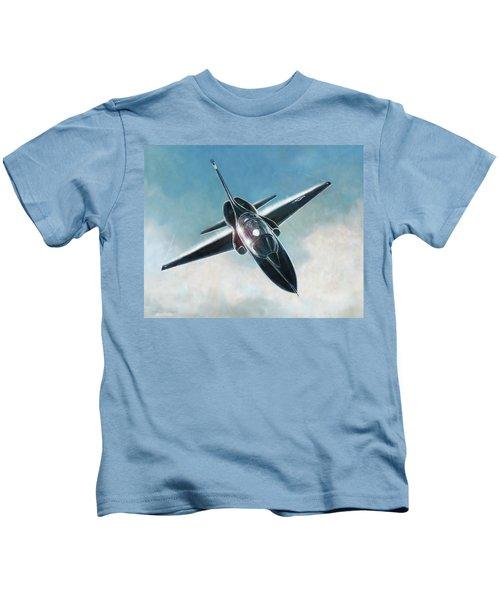 Black T-38 Kids T-Shirt