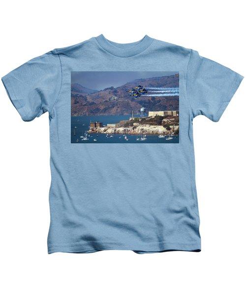 Blue Angels Over Alcatraz Kids T-Shirt