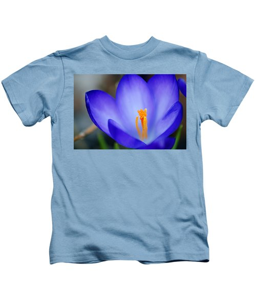 Blue Crocus Kids T-Shirt