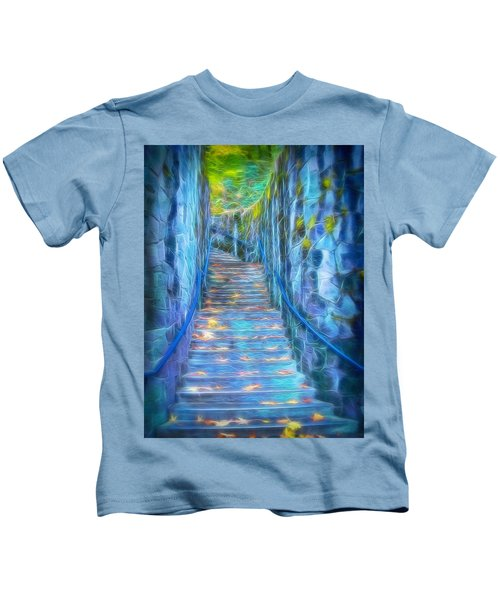 Blue Dream Stairway Kids T-Shirt