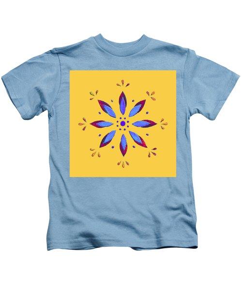 Blue Flower Kids T-Shirt