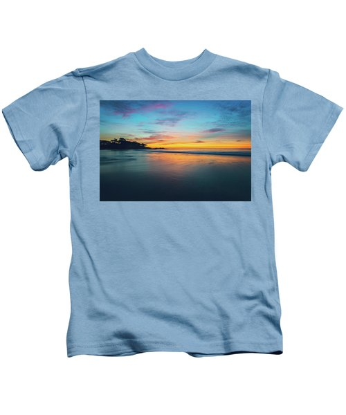 Blue Hour At Carmel, Ca Beach Kids T-Shirt