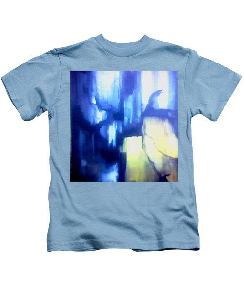 Blue Patterns Kids T-Shirt