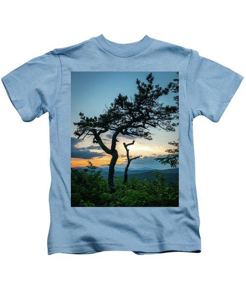 Blue Ridge Mountains Dr. Tree Kids T-Shirt