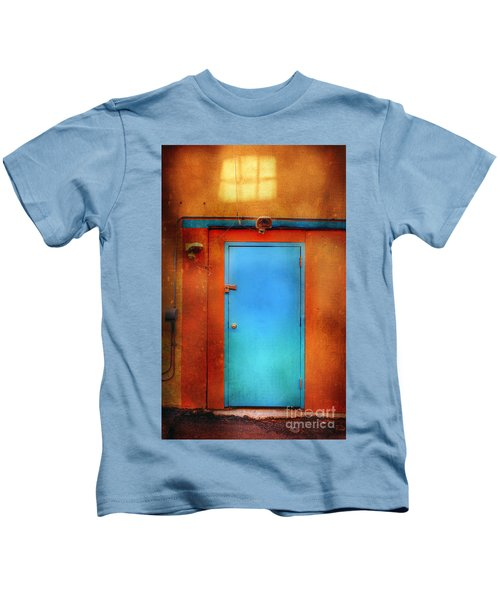Blue Taos Door Kids T-Shirt