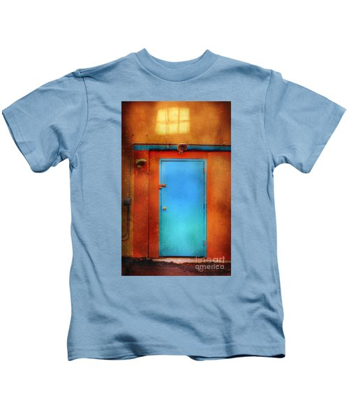 Blue Taos Door Kids T-Shirt