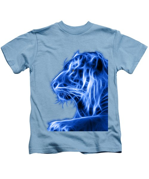 Blue Tiger Kids T-Shirt