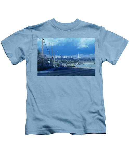 Blue Vegas Kids T-Shirt