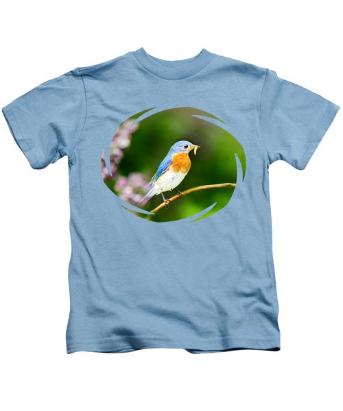 Bluebird Kids T-Shirt by Christina Rollo
