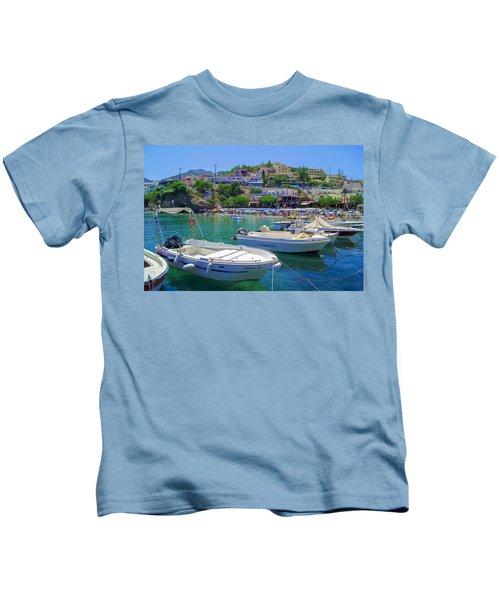Boats In Bali Kids T-Shirt
