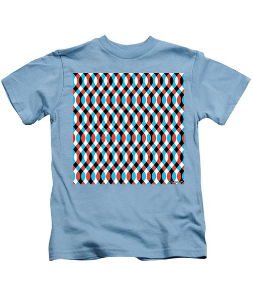 Brain Waves - Blue Kids T-Shirt