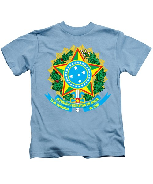 Brazil Coat Of Arms Kids T-Shirt
