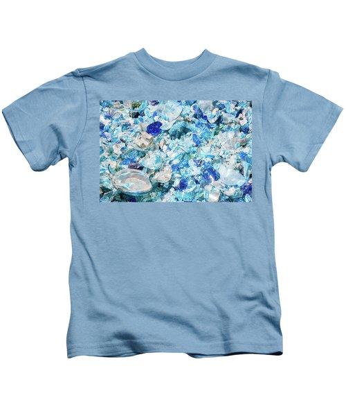 Broken Glass Blue Kids T-Shirt