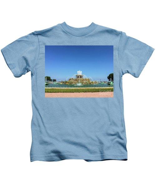 Buckingham Fountain Kids T-Shirt