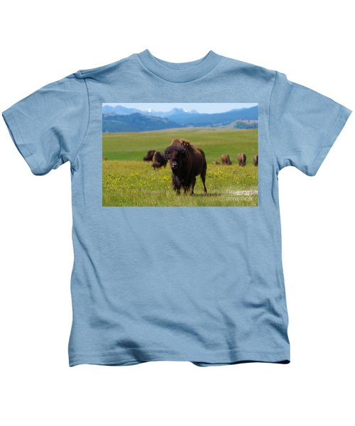 Buffalo Staring Kids T-Shirt