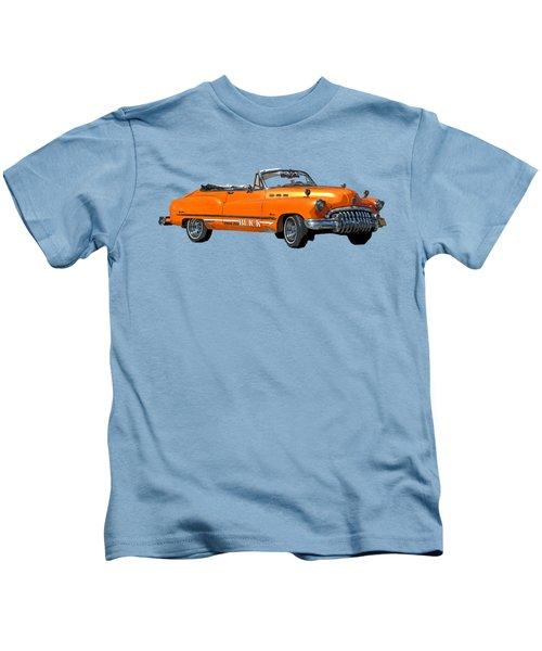 Buick Art In Orange Kids T-Shirt