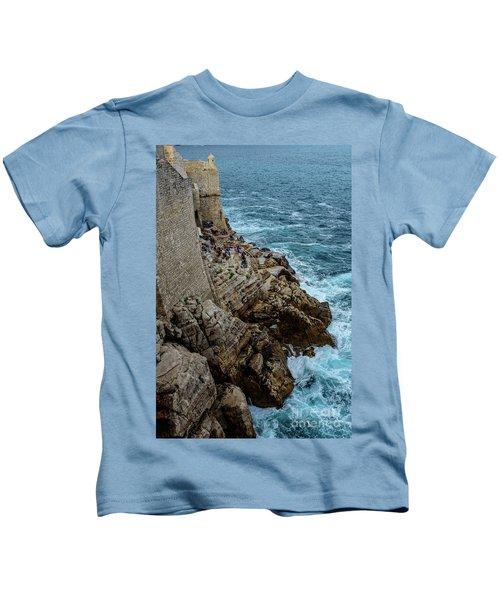 Buza Bar On The Adriatic In Dubrovnik Croatia Kids T-Shirt