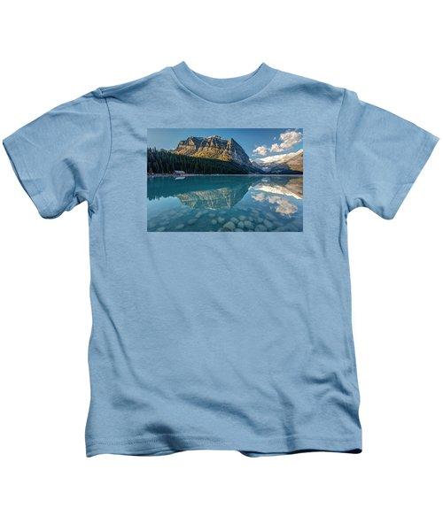Calm Lake Louise Reflection Kids T-Shirt