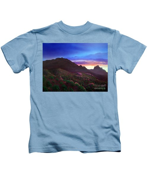 Camelback Mountain Dusk Kids T-Shirt