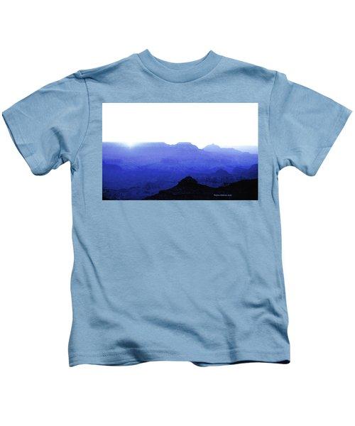 Canyon In Blue Kids T-Shirt