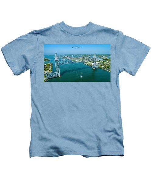 Cape Cod Canal Suspension Bridge Kids T-Shirt